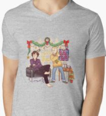 The Mystery of the Advent Chocolates Men's V-Neck T-Shirt