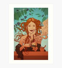 My coffee muse Art Print