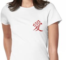 Love. Womens Fitted T-Shirt