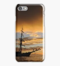 Last light on tall ship iPhone Case/Skin