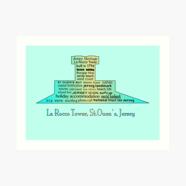 La Rocco Tower Jersey Turquoise and Gold Gradient  Art Print