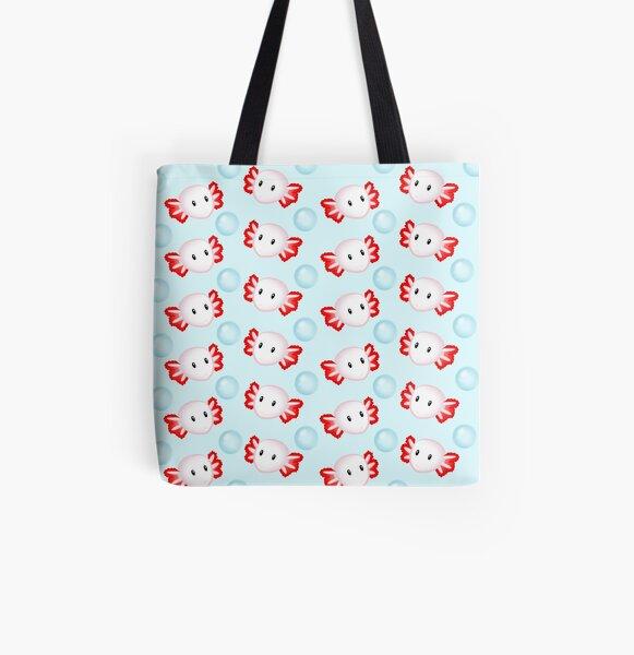 Axolotl Overload (White) All Over Print Tote Bag