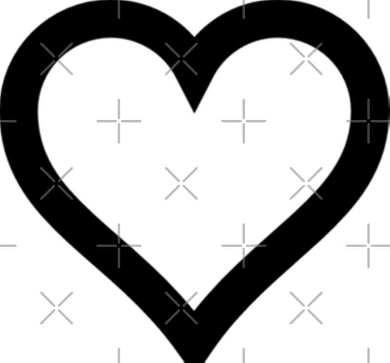 """Simple Black and White Heart"" Photographic Prints by ..."