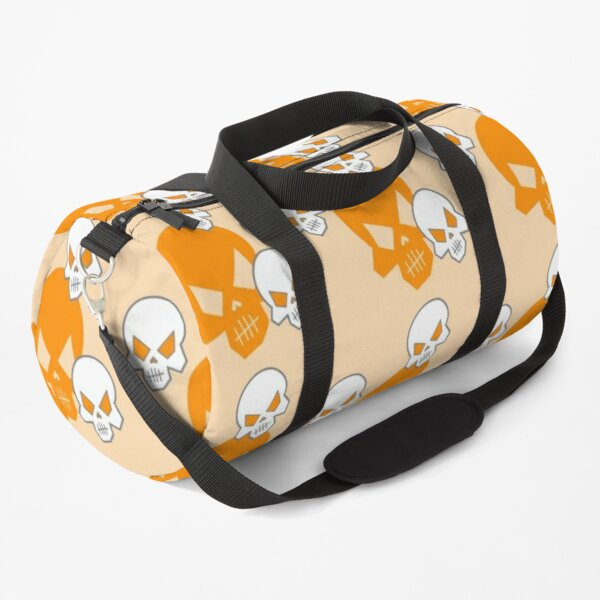 Orange Skeleton Skulls Street Skater Punk Wear Pattern Duffle Bag