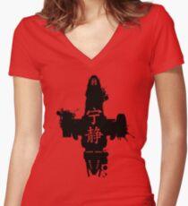 Firefly Serenity Ink Blot Women's Fitted V-Neck T-Shirt