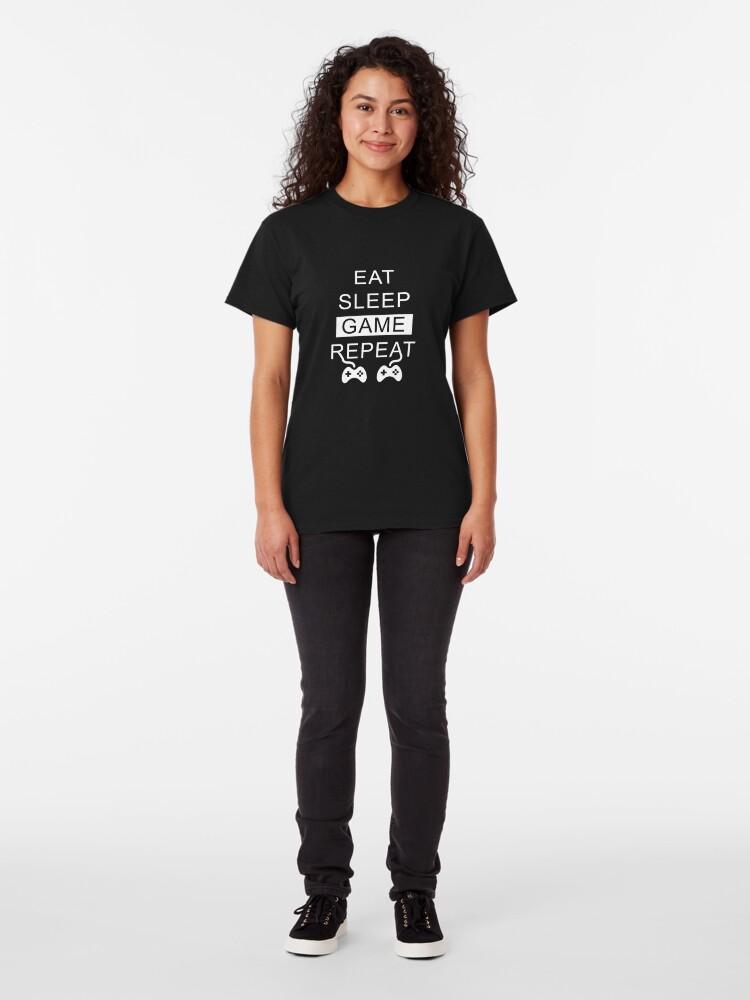 Vista alternativa de Camiseta clásica Eat Sleep Game Repeat