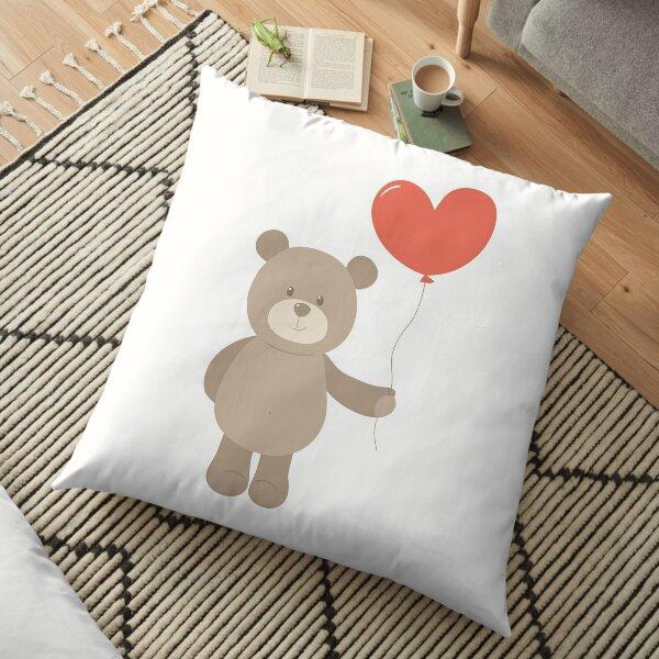 Toy teddy bear with heart. Floor Pillow