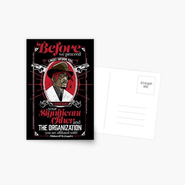 Gentlemayne - Makaveli  Postcard