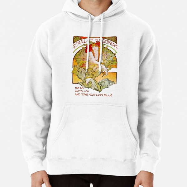 Scarlet-Begonias-The-Sky-was-yellow-The-sun-was-Blue Pullover Hoodie
