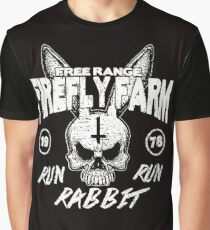 Firefly Farms run rabbit run Graphic T-Shirt