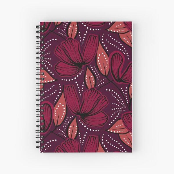 Crimson hibiscus Spiral Notebook