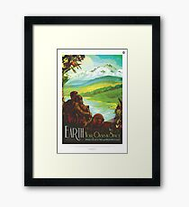Earth: Your Oasis in Space Framed Print