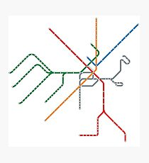 Boston Train Map Photographic Print