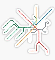 Boston Train Map Sticker