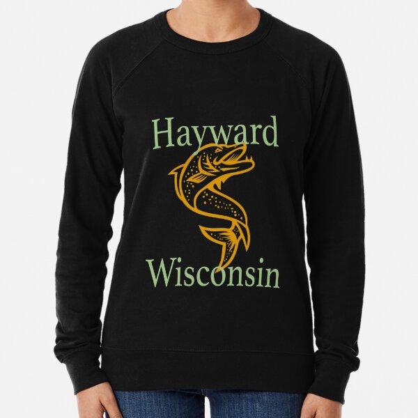 Hayward Wisconsin Fighting Musky Design  Lightweight Sweatshirt