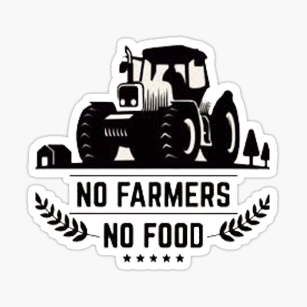 No Farmer No Food - We Support Our Farmers - Farmer Christmas Sticker