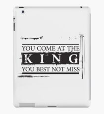 """""""You Come at the King, You Best Not Miss"""" - The Wire (Dark) iPad Case/Skin"""