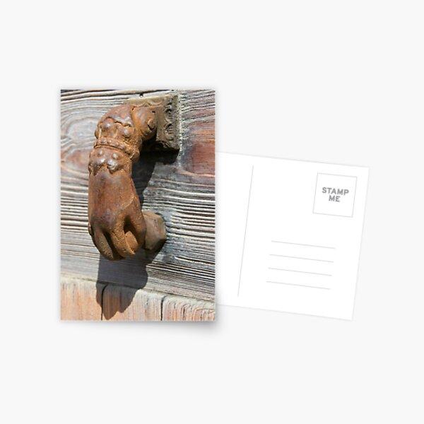 Time-worn door knocker 5 Postcard