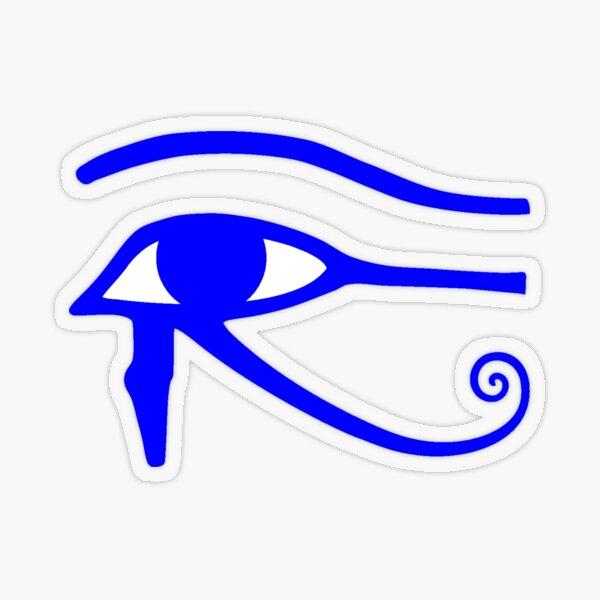 Egyptian Art: Eye of Horus Transparent Sticker