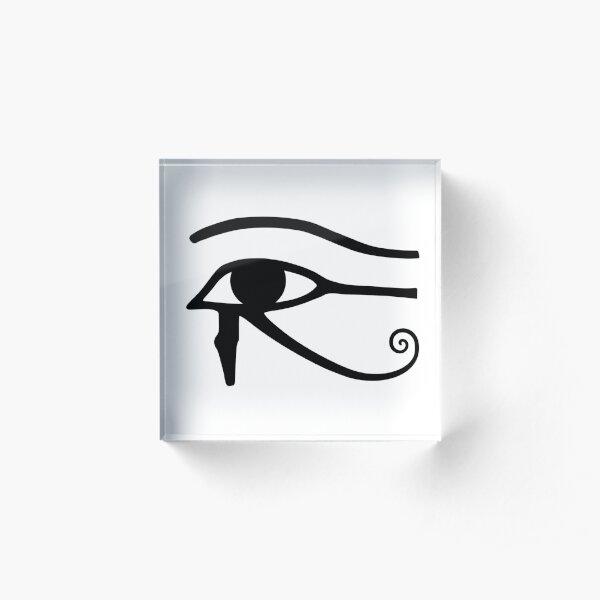 Egyptian Art: Eye of Horus Acrylic Block