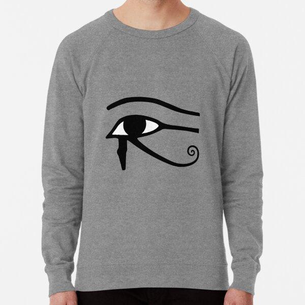 Egyptian Art: Eye of Horus Lightweight Sweatshirt