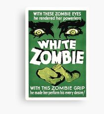 White zombie - the movie Canvas Print