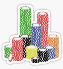 poker chips Sticker
