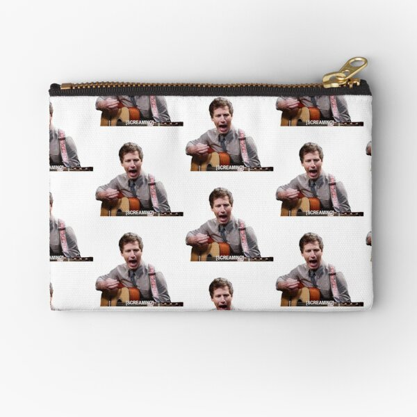 Jake Peralta screaming with guitar Zipper Pouch
