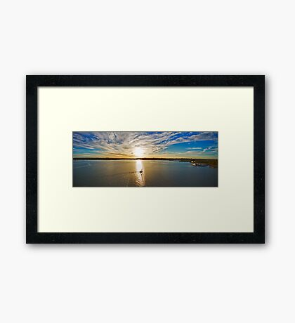 Georges River Sunset Sails - Sydney - Australia Framed Print