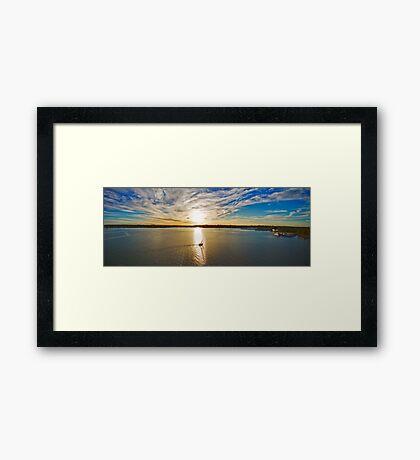 Georges River Sunset Sails - Sydney - Australia Framed Print