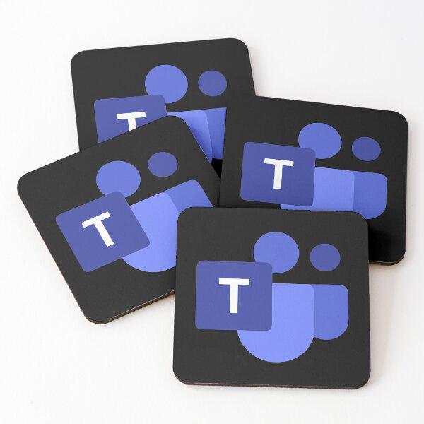 BEST SELLER - microsoft teams Merchandise Coasters (Set of 4)