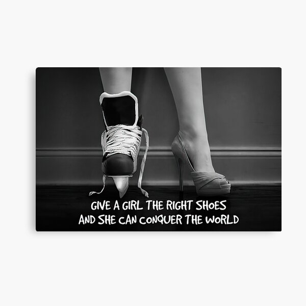 Skating Girls - Give A Girl The Right Shoes And She Can Conquer The World Canvas Print