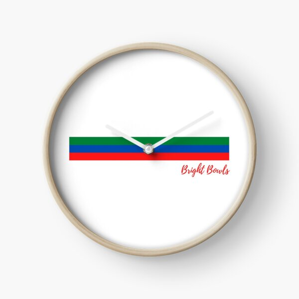 red green and blue stripes Clock