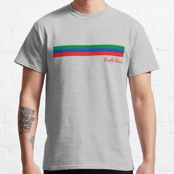 red green and blue stripes Classic T-Shirt