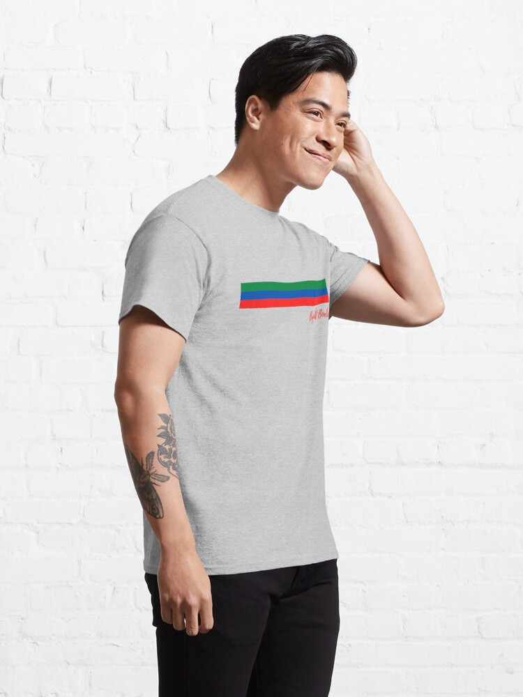 Alternate view of red green and blue stripes Classic T-Shirt