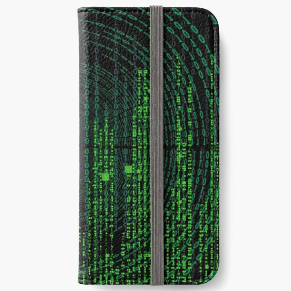 Green Binary Encoded Matrix iPhone Wallet