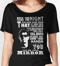 Lou Reed Velvet Underground Lyric T-Shirt Women's Relaxed Fit T-Shirt