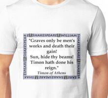 Graves Only Be Mens Works - Shakespeare Unisex T-Shirt