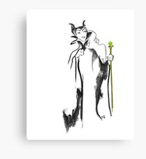Where Pictures Shine - Maleficent and her Staff Canvas Print