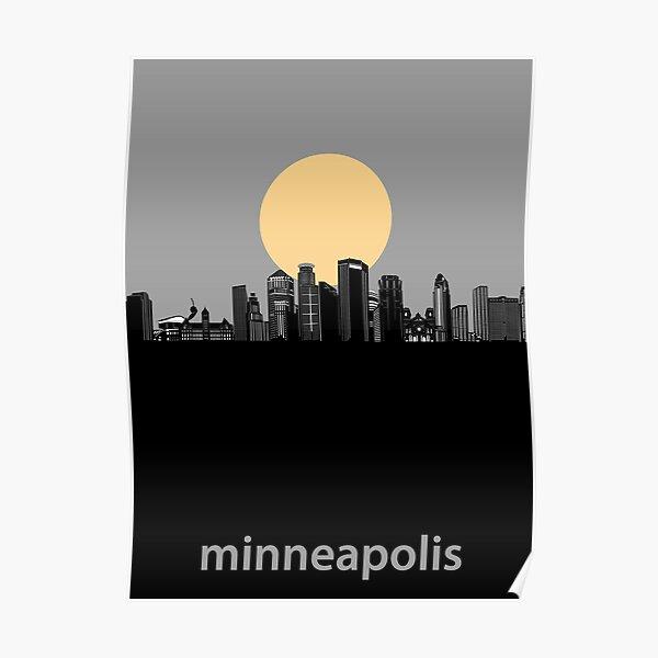 minneapolis skyline minimal Poster