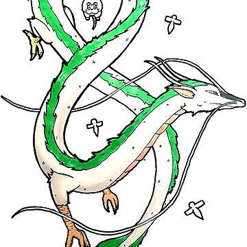 Haku Dragon by grackken