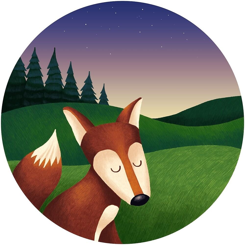 Netter Fuchs am Abend von skrich