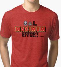 Dead Poo L - Maximum Effort Tri-blend T-Shirt