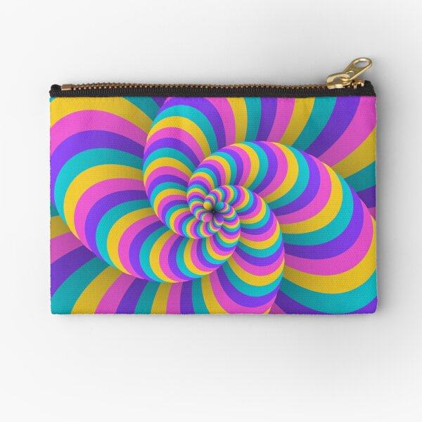 Lollipop Swirls Optical Illusion Best Cool Pastel Pink Art Zipper Pouch