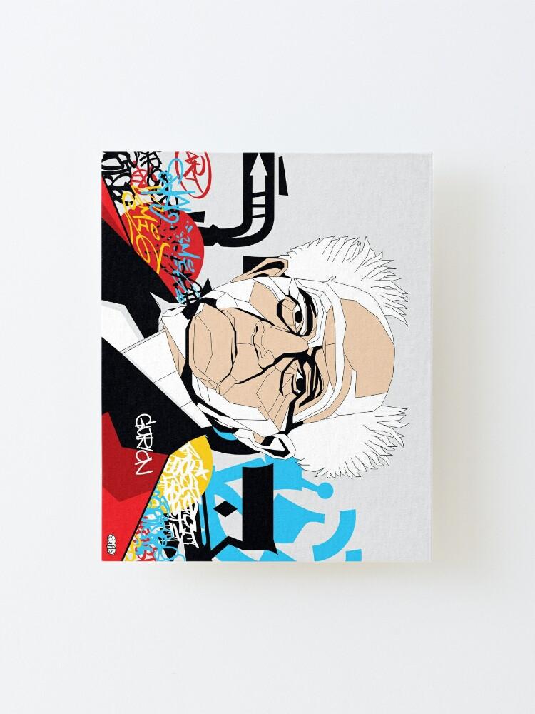 Alternate view of David Ben-Gurion portrait - Pop Art Israeli leader Mounted Print