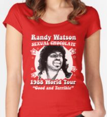 Randy Watson 1988 World Tour Women's Fitted Scoop T-Shirt