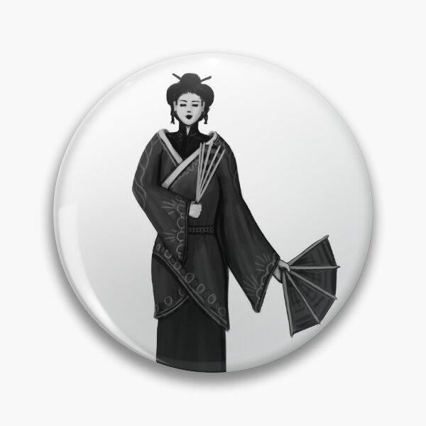 Japanese Geisha Character Fantasy Print Pin