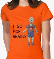 I go for Brains Women's Fitted T-Shirt