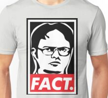 """The Office: Dwight """"FACT' Obey Unisex T-Shirt"""