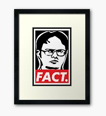 "The Office: Dwight ""FACT' Obey Framed Print"